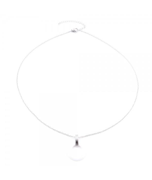 Edelstahl-Halskette mit Keramik-Anhänger