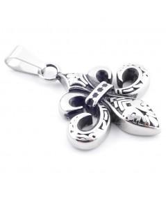Stainless steel Fleur de Lis Pendant